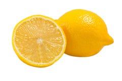 Плодоовощ лимонов, изолированный на белизне Стоковое Изображение