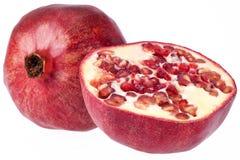 Плодоовощ красного гранатового дерева изолированный на белой предпосылке Стоковое фото RF