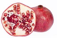 Плодоовощ красного гранатового дерева изолированный на белой предпосылке Стоковая Фотография RF