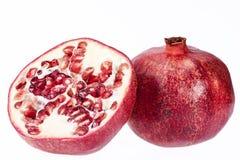 Плодоовощ красного гранатового дерева изолированный на белой предпосылке Стоковые Изображения RF
