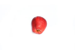 Плодоовощ красного яблока зрелый на белой предпосылке Стоковые Фотографии RF