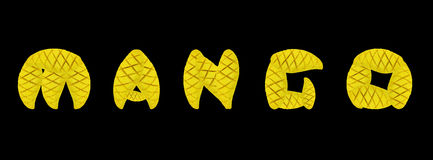 Плодоовощ манго алфавита Стоковые Фотографии RF