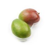 2 плодоовощ манго в пластичном случае Стоковая Фотография