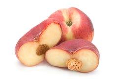 Плодоовощ персика смокв на белизне Стоковая Фотография RF