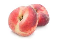 Плодоовощ персика смокв на белизне Стоковое Изображение RF