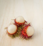 Плодоовощ рамбутана с красной раковиной Стоковые Фото