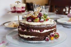 Плодоовощ торта красный Стоковые Изображения RF
