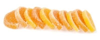 плодоовощ формы цитруса конфет предпосылки изолировал дольки студня студней белые Стоковое Изображение