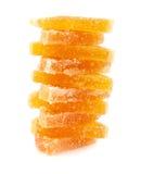 плодоовощ формы цитруса конфет предпосылки изолировал дольки студня студней белые Стоковые Фото