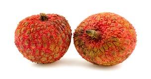 2 плодоовощ lychee изолированного на белизне Стоковое Изображение