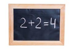 2 плюс 2 равного 4 Стоковые Фотографии RF