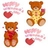 Плюшевые медвежоата в влюбленности Стоковое Изображение RF