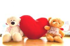 Плюшевые медвежоата влюбленности Стоковое Изображение RF