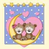 Плюшевые медвежоата любовников иллюстрация штока