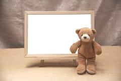 Плюшевый медвежонок, белизна классн классного Стоковые Изображения