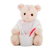 Плюшевый медвежонок готовый для еды Стоковые Фотографии RF