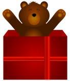 Плюшевый медвежонок как подарок Стоковое фото RF