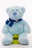 Плюшевый медвежонок на горшочке Стоковое Изображение RF