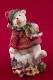 Плюшевый медвежонок рождества с подарками Стоковое Фото