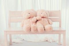 Плюшевый медвежонок свадьбы влюбленности Стоковое Изображение