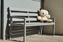Плюшевый медвежонок сидя на стенде Стоковое Фото