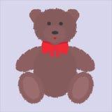 Плюшевый медвежонок с коричневым мехом также вектор иллюстрации притяжки corel Стоковая Фотография