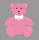 Плюшевый медвежонок с розовым мехом также вектор иллюстрации притяжки corel Стоковое фото RF