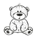Плюшевый медвежонок чертежа бесплатная иллюстрация