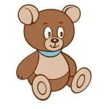 Плюшевый медвежонок шаржа Иллюстрация вектора на белой предпосылке Стоковое Изображение RF