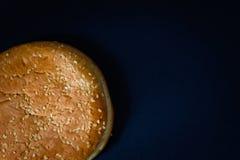 Плюшка гамбургера и, который замерли сырцовый гамбургер говядины или свинины Стоковые Изображения