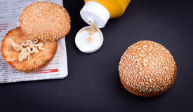 Плюшка гамбургера Стоковая Фотография