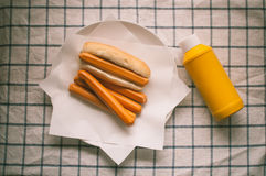 Плюшка горячей сосиски Стоковое фото RF