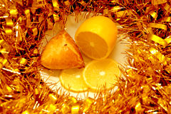 Плюшка, лимон и сусаль рождества Стоковые Фотографии RF