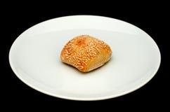 Плюшка сандвича с сезамом Стоковое Изображение