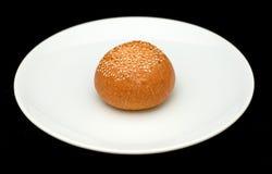 Плюшка сандвича с сезамом Стоковое Фото