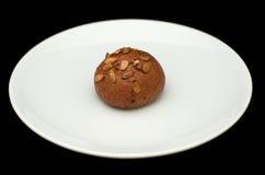 Плюшка сандвича Rye с семенами тыквы Стоковые Фотографии RF