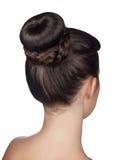 Плюшка стиля причёсок изолированная на белой предпосылке Стоковые Изображения