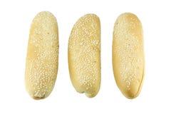 Плюшка хот-дога с семенами сезама Стоковые Фото