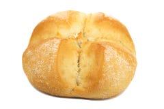 Плюшка для хот-дога на белой предпосылке Стоковые Фотографии RF