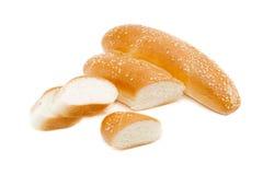 2 плюшки, взбрызнутой с семенами сезама Стоковые Фото