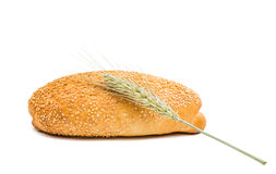 Плюшки взбрызнутые с семенами сезама Стоковые Фото