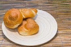 плюшки завтрака свежие Стоковая Фотография RF