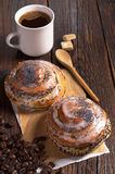 2 плюшки и кофе Стоковое Изображение RF