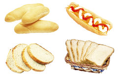 Плюшки и хлеб хот-дога Стоковые Изображения