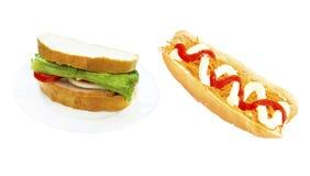 Плюшки и хлеб хот-дога Стоковые Изображения RF