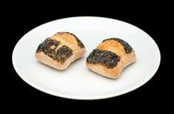 2 плюшки сандвича с маком Стоковое Изображение RF