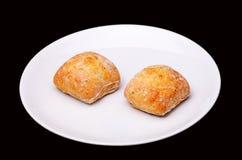 2 плюшки сандвича Стоковая Фотография RF