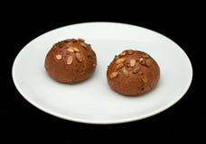 Плюшки сандвича Rye с семенами тыквы Стоковая Фотография RF