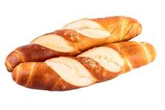 Плюшки свертывают изолированный хлеб кренов отзола типичный немецкий на белизне Стоковые Фотографии RF