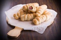 Плюшки сосиски. Стоковое Фото
